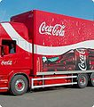Coca Cola truck advertising selling obesity