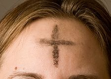 Ash Wednesday cross ashes repentance