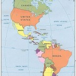 Americas  western hemisphere countries map