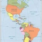 Americas  western hemisphere countries map