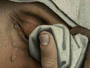 Detail from Descent from the Cross, Rogier van derWeyden