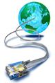 internet globe communication