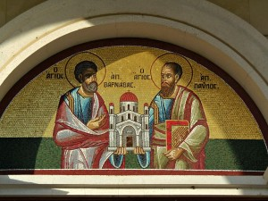 Mosaic of Sts. Paul and Barnabas, Nicosia, Cyprus