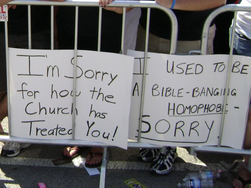 "Signs at Chicago ""Gay"" Pride Parade 2010"