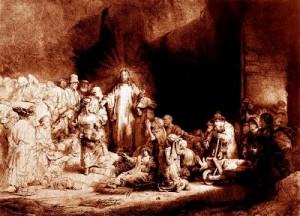 Jesus in Judea Rembrandt