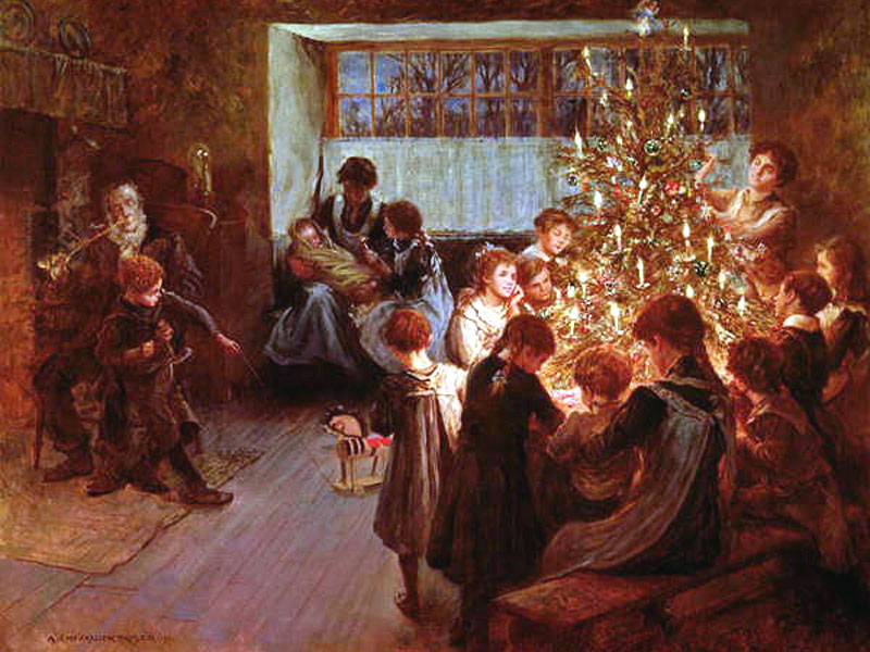 The Christmas Tree, 1911, Albert Chevallier Tayler