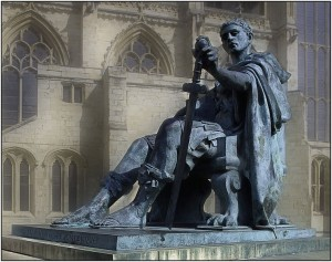 Statue of Constantine in York, England