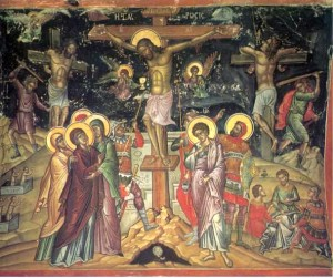 Crucifixion icon Jesus 1