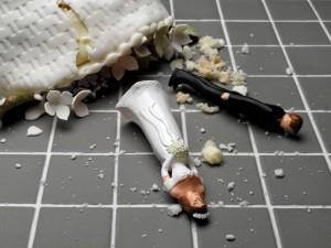 Destroyed Wedding Cake