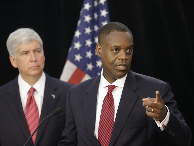 Michigan's governor Rick Snyder and Detroit's emergency manager Kevyn Orr