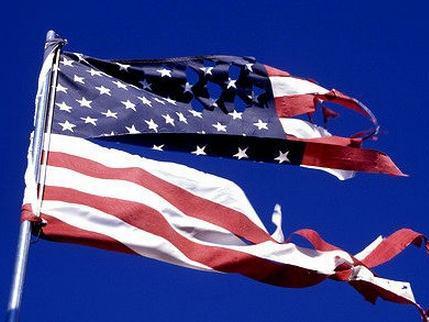 Divided America Flag