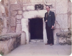 The author about to enter Church of the Nativity