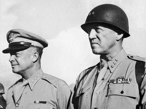 Gen. Dwight D. Eisenhower and Lt. Gen. George S. Patton