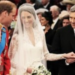 Royal wedding Father of bride gives her to husband