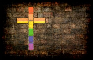 gay pride cross