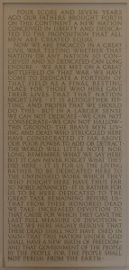 Gettysburg Address at Lincoln Memorial