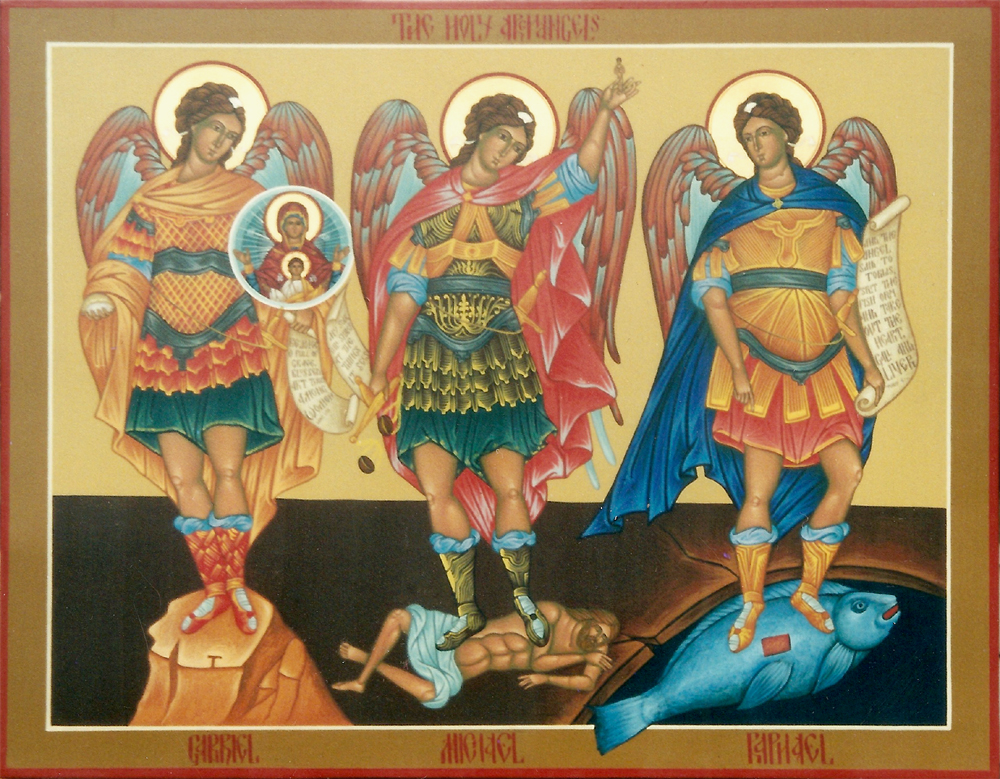 The Three Archangels dans images sacrée HolyArchangels