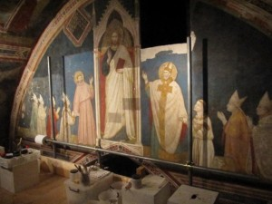 One of the Frescoes from the very top of the Upper Church Basilica of St. Francis of Assisi