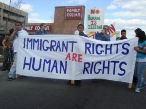 Immigrant rights sign