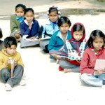 India children school outside learn edu poor