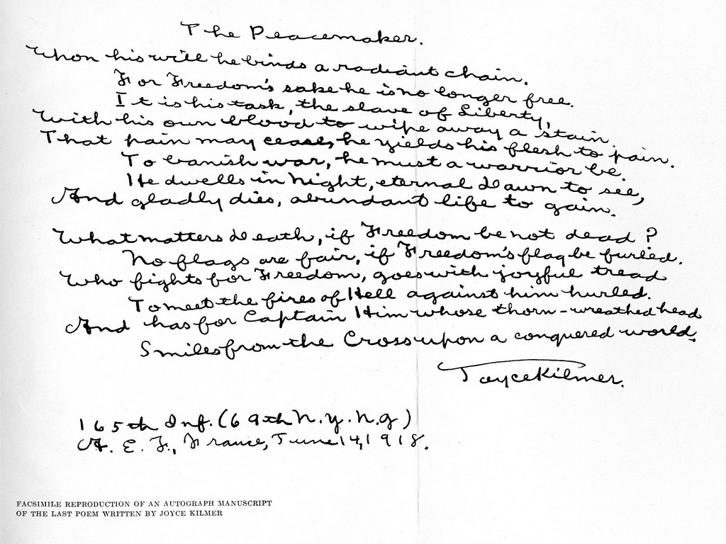 Facsimile of Manuscript, June 14, 1918.