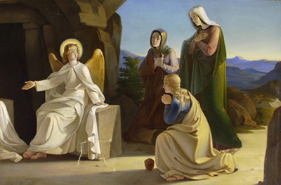 Image result for angels at the empty tomb