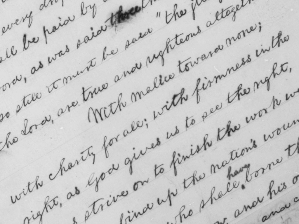 Detail from Fourth Page of Lincoln's Manuscript