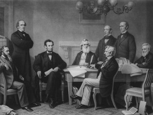 Lincoln Presenting Emancipation Proclamation to His Cabinet
