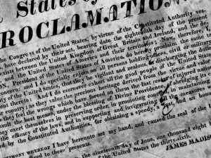 President James Madison's 1812 War Proclamation