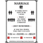 Marriage – 2 Sexes – 2 Persons
