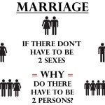 Marriage - 2 Sexes - 2 Persons