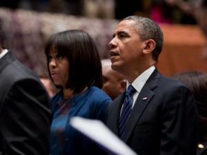 Obamas in Church - Sunday, January 20, 2013