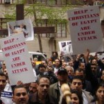 Persecution protest in Egypt