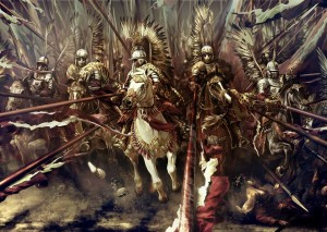 Charge of the Polish winged hussars.
