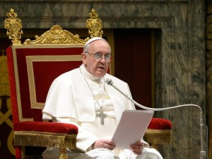 Pope Francis - Speaking to College of Cardinals - March 15, 2013