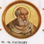 St. Zachary, Pope