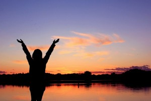 Praise God in the Sunset