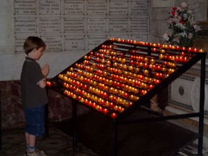 Praying with Votive Candles