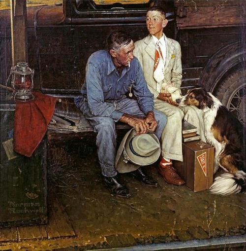 "Norman Rockwell's ""Breaking Home Ties"" (September 25, 1954) © SEPS"