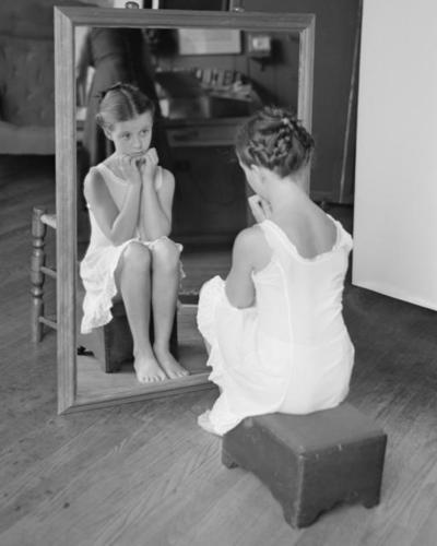 "Photograph for Rockwell's ""Girl at Mirror"""