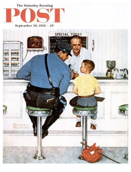 "Norman Rockwell's ""The Runaway"" (September 20, 1958) © SEPS"