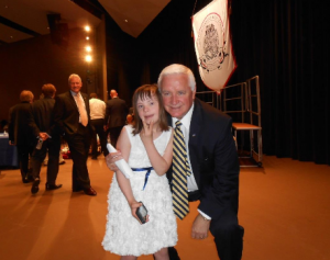 Chloe Kondrich with PA Gov. Tom Corbett