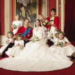 Royal wedding portrait with pages, flower girls
