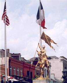 St. Joan of Arc  statue in New Orleans