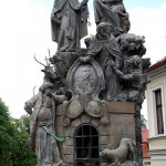 Statues of St. Felix of Valois and St. John of Matha. Charles Bridge, Prague.