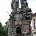Statues of St. Felix of Valois and St. John of Matha. Charles Bridge, Prague.