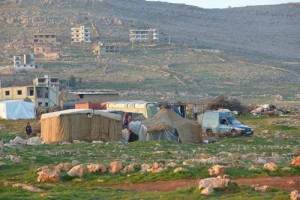 ACN photo: Muslim Syrian refugees have set up camp in the village of Kaa.