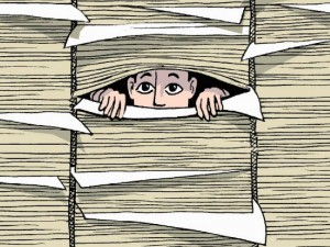 Trapped in a Wall of Papers