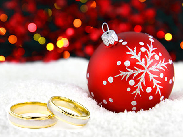 Wedding Rings And Christmas Tree Ornament Download Full Size Image
