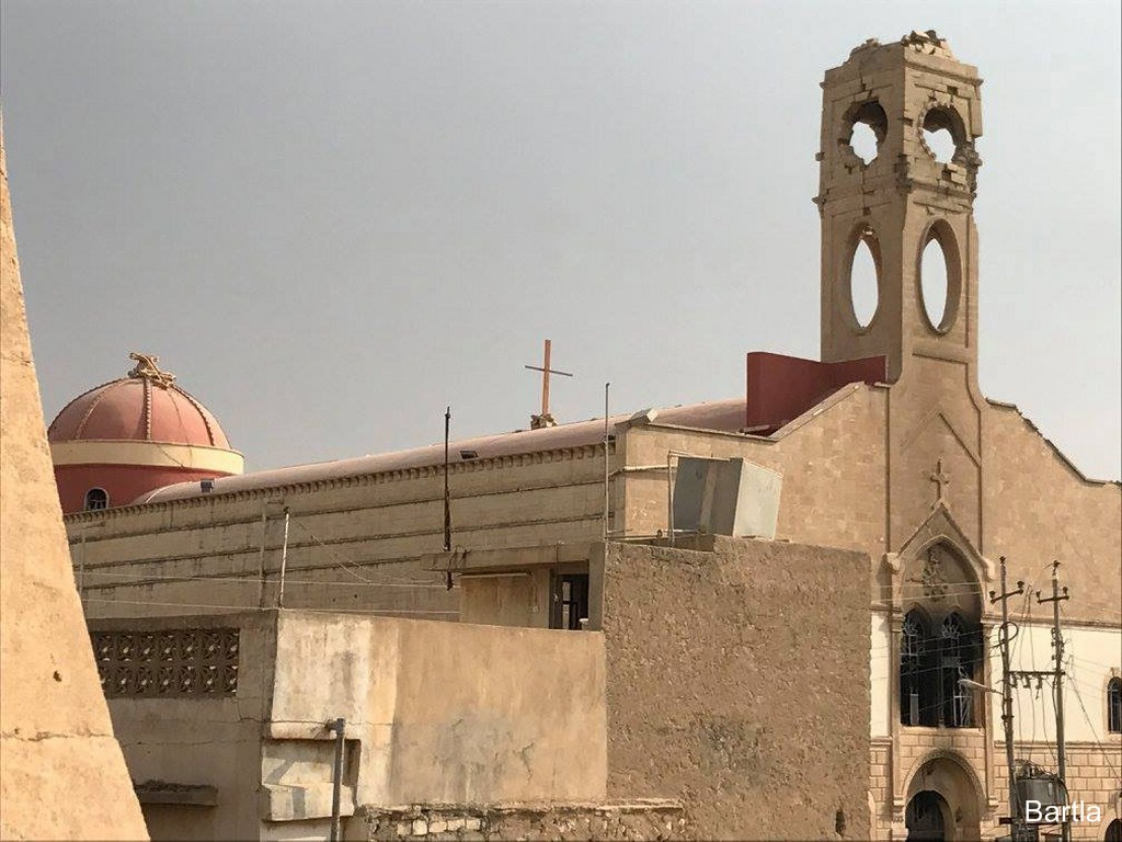 Damaged church in Bartella, on the Nineveh Plane; ACN photo